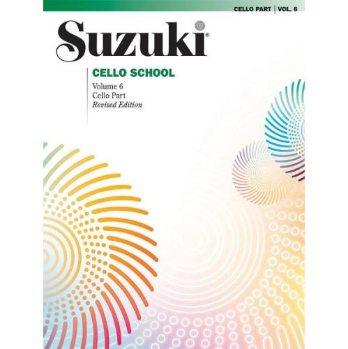 Alfred 00-0268S Suzuki Cello School Cello Part- Volume 6 - Music Book