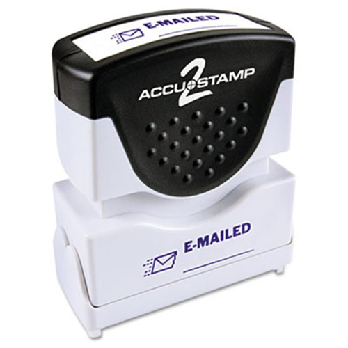 Consolidated Stamp 035577 Accustamp2 Shutter With Anti Bacteria Blue EMAILED 163 X 5 More Mailing Shipping Supplies