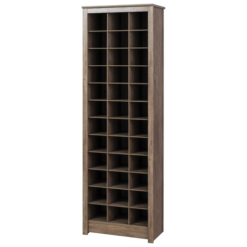 36 Cubby Shoe Storage Cabinet Drifted Grey Wall