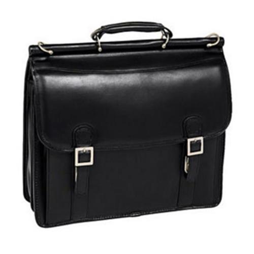 McKlein HALSTED 80335 Black Double Compartment Laptop Case