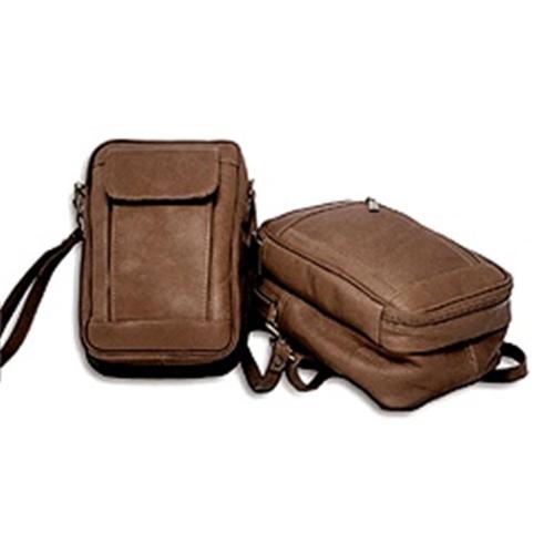 David King Co 459c Man Bag With Organizer Cafe Crossbody Bags