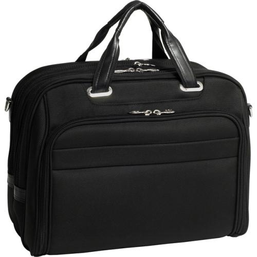 McKlien 76595 Springfield 76595- Black Nylon Fly-Through Checkpoint-Friendly 17 in. Laptop Case