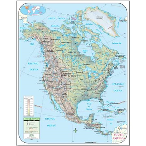 Buy Map Of Canada.Universal Map 28424 North America Shaded Relief Map