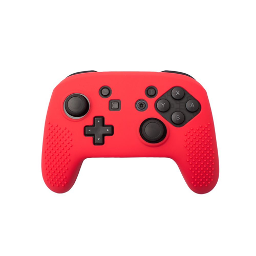 Insten Protective Silicone Skin Case For Nintendo Switch Pro Controller, Red
