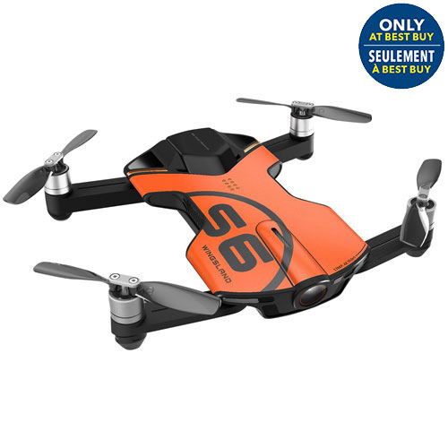 Wingsland S6 4K30 Pocket Drone with Camera - Ready-to-Fly - Orange - Only at Best Buy