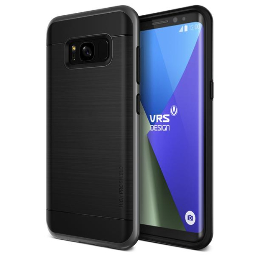 Vrs Design Fitted Soft Shell Case for Samsung Galaxy S8 - Dark Silver