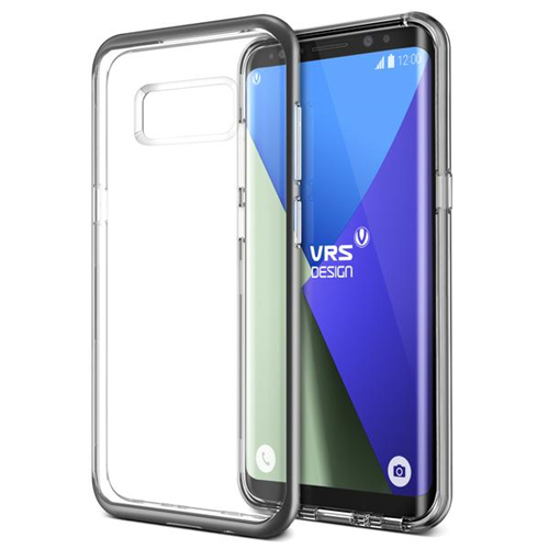 Vrs Design VRSG8ECRBDS Étui Crystal Bumper GS8 Plus Transparent/Gris