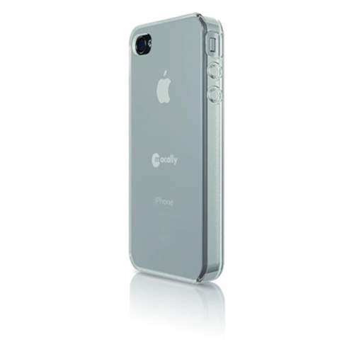 Macally FlexFitP4 Clear Flexible Protective Case Plus Sticky Swipe for iPhone4
