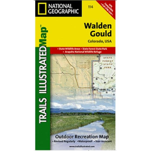 National Geographic Ti00000114 Map Of Walden Gould Colorado