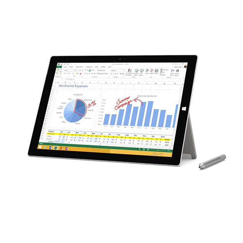 "Microsoft Surface Pro 3 Tablet - Intel i7-4650 8GB 128GB SSD 12"" FHD BT Windows 10 Pro (Factory Recertified) ONE YEAR WARRANTY"