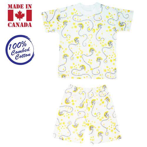 Vals Kids 2-piece, T-Shirt & Elastic Shorts, 6 Years, Blue Sleepy Bear
