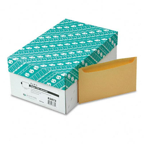 Quality Park 63872 Paper File Jackets 5 x 8 1/8 2 Pt. Tag Buff 500/Bx