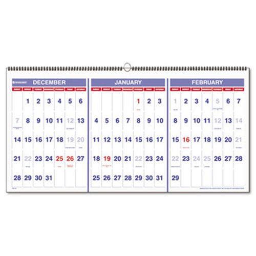 At A Glance Pm1428 Three Months Per Page 15 Month Wall Calendar