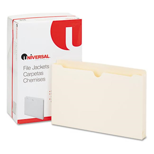 Universal 74500 Economical File Jackets with 1.5 Expansion Legal 11 Point Manila 50-Box