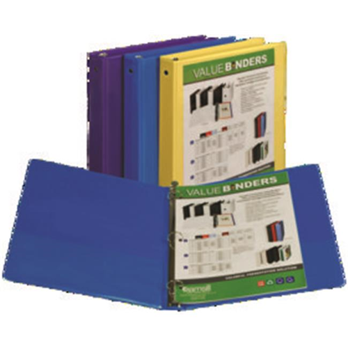 samsill corporation 18519 recycled economy pocket view binder 5in