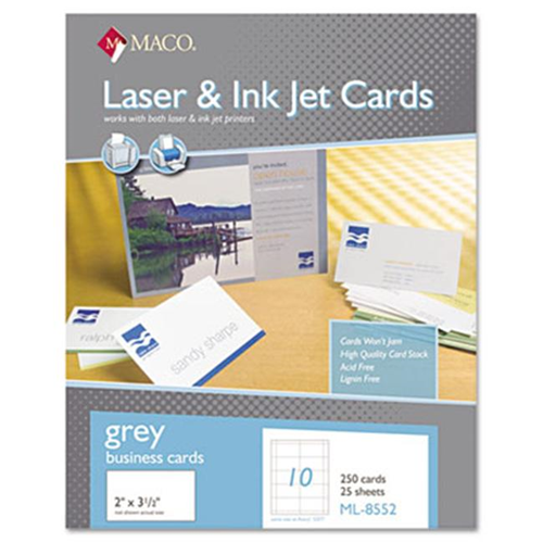 Maco ml 8552 microperforated business cards 2 x 3 12 gray 250 maco ml 8552 microperforated business cards 2 x 3 12 gray reheart Gallery