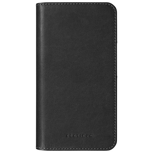 Platinum Fitted Hard Shell Leather Wallet For Iphone 7 Plus 8 Plus Dark Grey Only At Best Buy Best Buy Canada