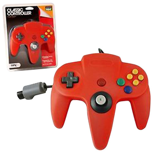 TTX Tech Wired Classic N64 Controller - Red