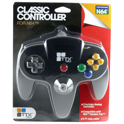 TTX Tech Wired Classic N64 Controller - Black