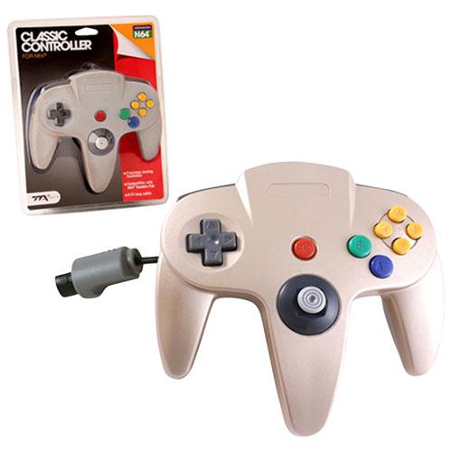 Manette avec fil de N64 classique de TTX Tech - Doré