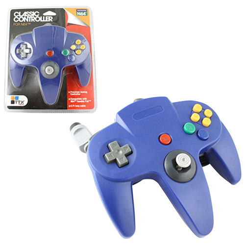 TTX Tech Wired Classic N64 Controller - Blue
