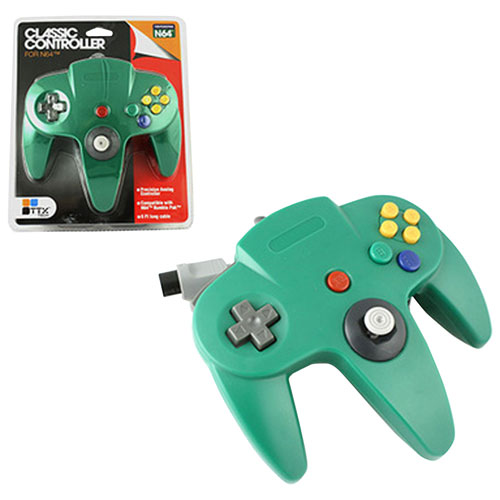 TTX Tech Wired Classic N64 Controller - Green