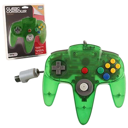 TTX Tech Wired Classic N64 Controller - Clear Green