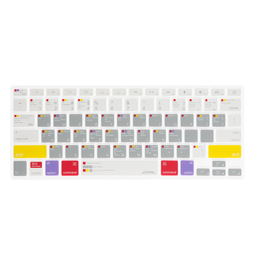"JCPal VerSkin™ MacOS Shortcut Keyboard Protector, 13"", Colour-Coded"