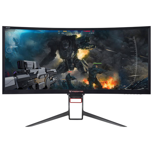 "Acer Predator 35"" Ultrawide WQHD 100Hz 4ms Curved VA LED G-Sync Gaming Monitor (Predator Z35P)-Black"