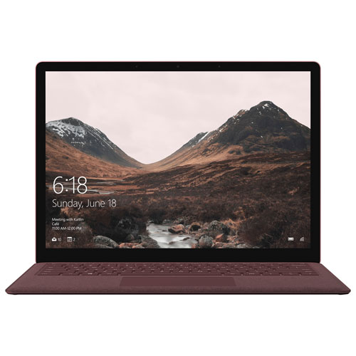 "Microsoft Surface 13.5"" Laptop -Burgundy (7th Gen Intel Core i5-7200U/256GB SSD/8GB RAM/Win 10S)-Eng"