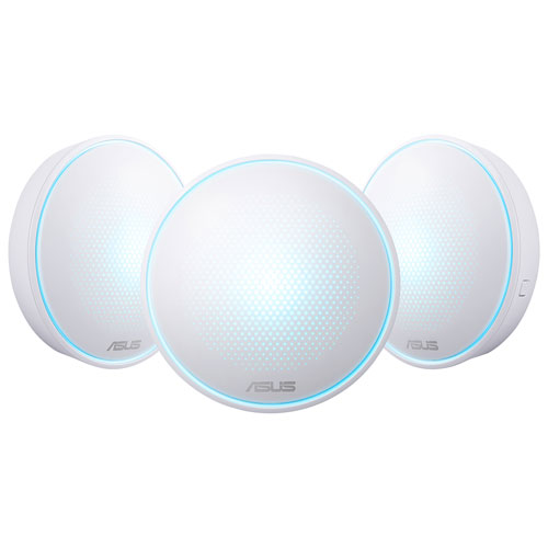 ASUS Lyra AC2200 Whole Home Mesh Wi-Fi System (MAP-AC2200) - 3 Pack