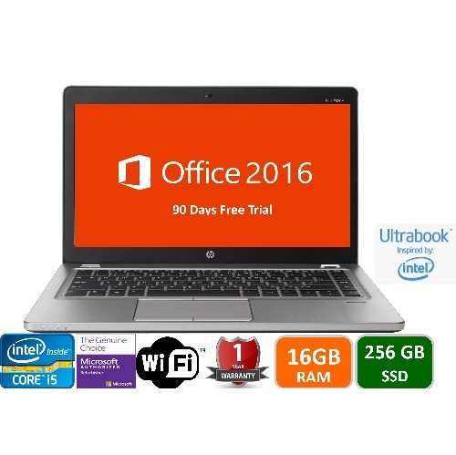 "HP ULTRABOOK 9470M, Intel i5-1.8 GHz, 16GB Memory, 256GB SSD Drive, 14"" , Win 10 pro,1yw-Refurbished"