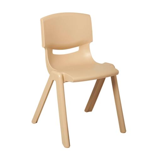 """ECR4Kids 18"""" Resin Stack Chair - Sand, 4 Pack"""