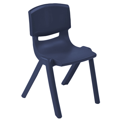 "ECR4Kids 18"" Resin Stack Chair - Navy, 4 Pack"