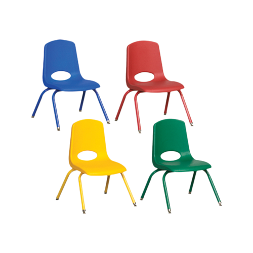 """10"""" Stack Chair with Matching Legs, 6 Piece - ASG"""