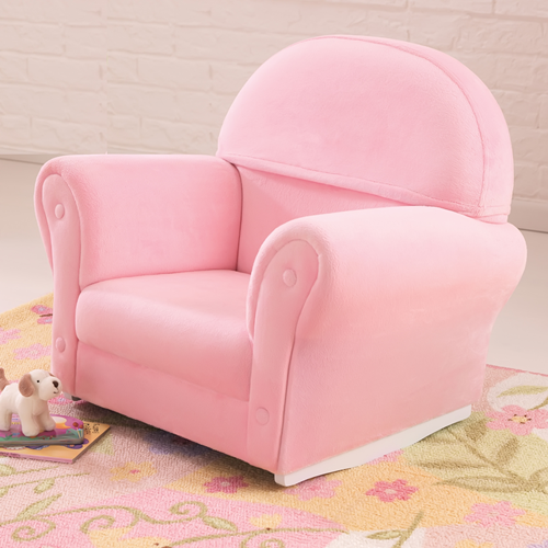 Upholstered Rocker w/Slipcover Pink - Unpersonalized
