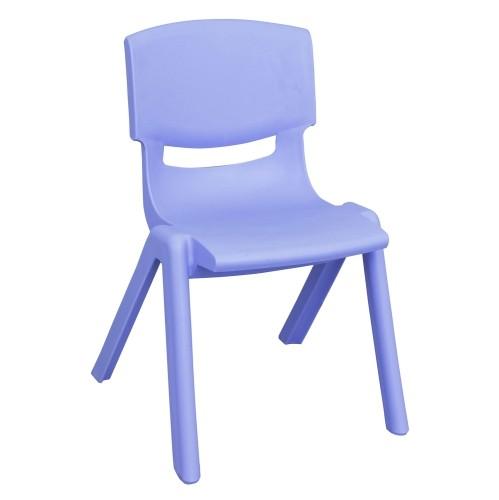 """ECR4Kids 14"""" Resin Chair Blue, 6 Pack"""