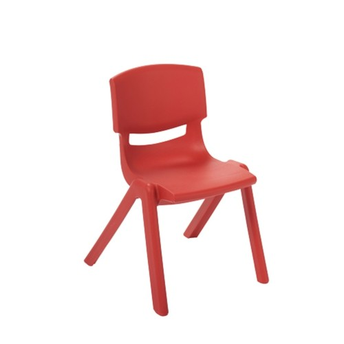 "ECR4Kids 14"" Resin Chair Red, 6 Pack"