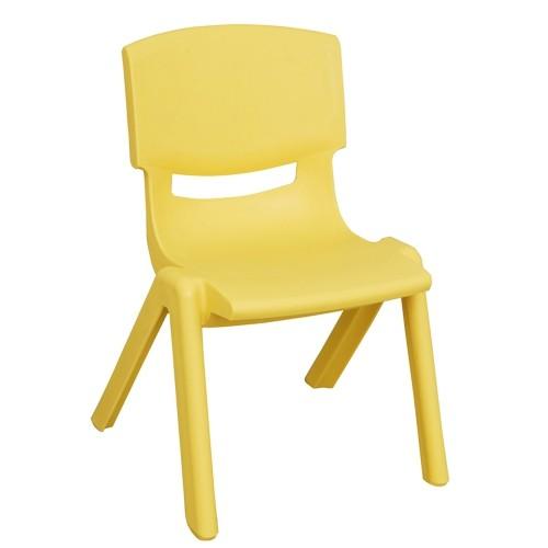 "ECR4Kids 14"" Resin School Stack Chair - Yellow"