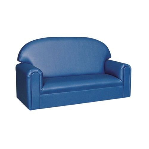 Toddler Vinyl Upholstery Blue Sofa