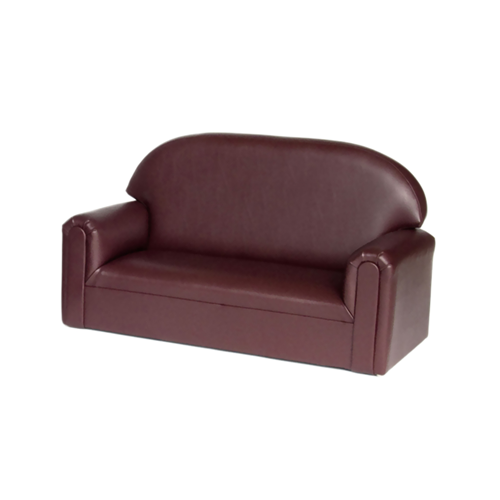 Toddler Vinyl Upholstery Port Burgundy Sofa