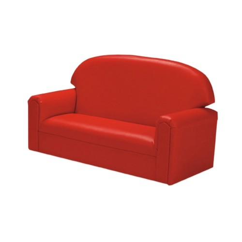 Toddler Vinyl Upholstery Red Sofa