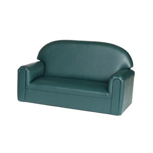 Toddler Vinyl Upholstery Teal Sofa