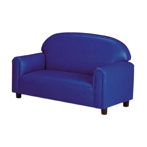 Preschool Vinyl Upholstery Blue Sofa