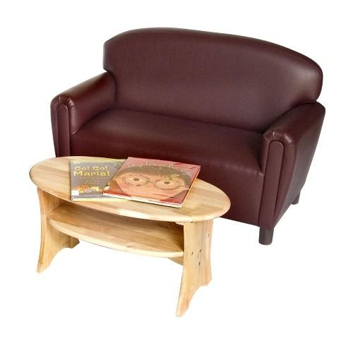 Preschool Vinyl Upholstery Port Burgundy Sofa