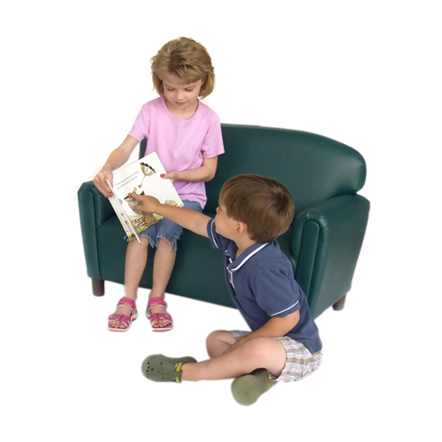 Preschool Vinyl Upholstery Teal Sofa