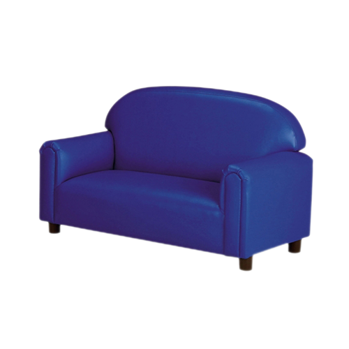 School Age Vinyl Upholstery Blue Sofa