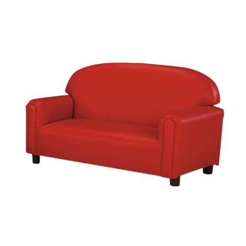 School Age Vinyl Upholstery Red Sofa