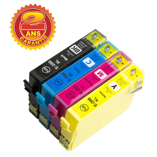 4x Imprimieux Ink Cartridge T288 288XL Compatible with Epson Expression XP-330 XP-430 XP-434