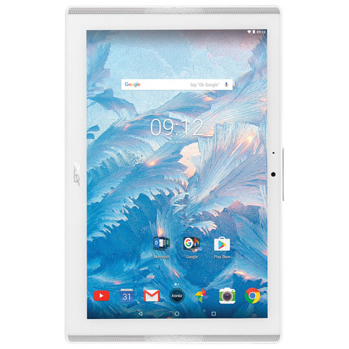 Tablette 10,1 po 16 Go Android 7 Iconia One d'Acer avec processeur quadruple coeur MT8167 - Blanc